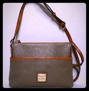 "Dooney & Bourke Elephant Grey ""Ginger"" crossbody B"